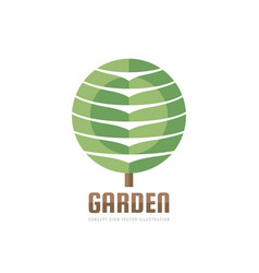 garden - concept business logo template vector image
