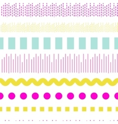 Geometric embroidery seamless pattern vector image