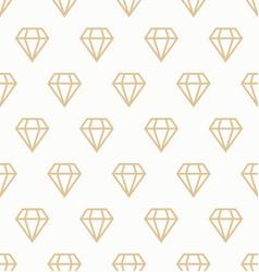 golden geometric seamless pattern diamonds vector image