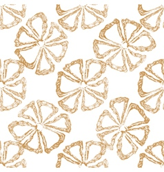 hand drawn seamless floral pattern with flower vector image