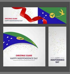 Happy christmas island independence day banner vector