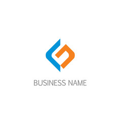 Letter g initial company logo vector