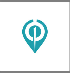 location point logo template icon vector image