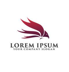 luxury bird logo design concept template vector image