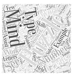 Mind Puzzles Substituting Word Cloud Concept vector image