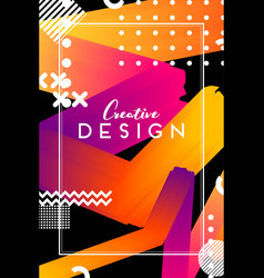 modern abstract cover futuristic design colorful vector image