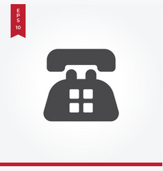 old telephone icon in modern style for web site vector image