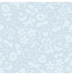 Pale romantic seamless pattern vector