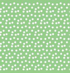 pastel green background scattered dots polka vector image