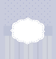 purple invitation card with blank label vector image