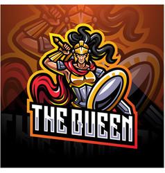 Queen esport mascot logo vector