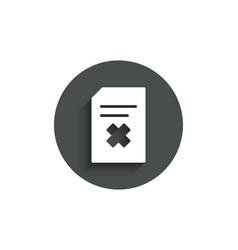 Remove document simple icon delete file sign vector
