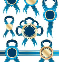 ribbons and medals vector image
