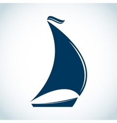 Sailing boat icon in flat design vector