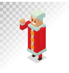 santa and missis claus cartoon family vector image