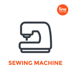 sewing machine icon on white vector image
