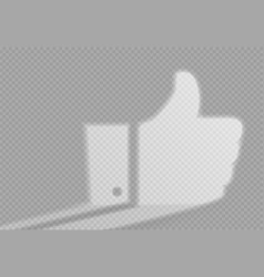 shadow and light in form recommendation thumbs up vector image