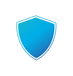 Shield safety badge icon privacy guard banner vector