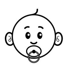 simple cartoon a cute baby vector image