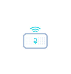 Smart speaker voice assistant icon on white vector
