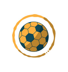 Soccer coffee stain sport flat design icon vector
