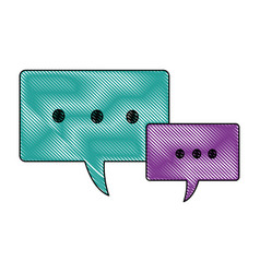 Speech bubbles message communication dialog vector