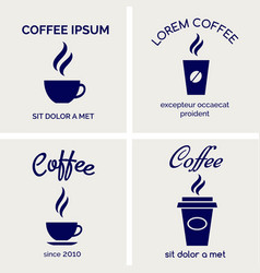 steaming coffee cards design vector image