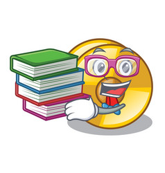 Student with book cyamblas miniature in the vector