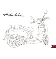 Summer Travel Design - Line Scooter vector image