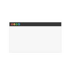 system dialog window sign of dialog window vector image