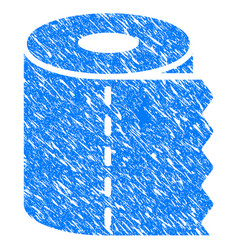 toilet paper grunge icon vector image