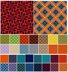 Universal different geometric seamless patterns vector