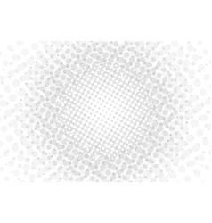 white halftone dotted circles vector image