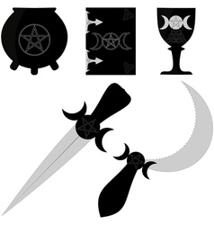 Wiccan attributes vector