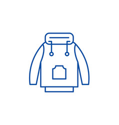 winter jacket line icon concept winter jacket vector image