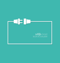Wire plug and socket vector