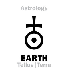 astrology sign of earth tellus terra vector image vector image