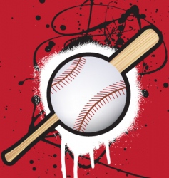 baseball splat vector image vector image