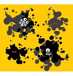 Blot monsters vector image