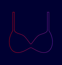 bra simple sign line icon with gradient vector image