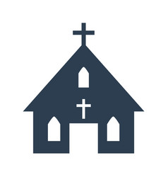 church icon on white background vector image