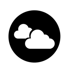 cloudy weather isolated icon vector image vector image