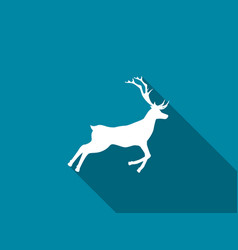 deer icon with long shadow vector image