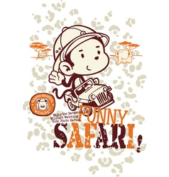 Funny safari monkey vector image