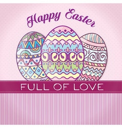 happy easter retro vector image vector image