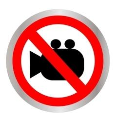 no camera no photo sign red prohibition - vector image vector image