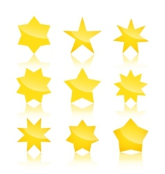 set of star icons isolated on white background vector image