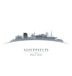 Sheffield England city skyline silhouette vector image vector image