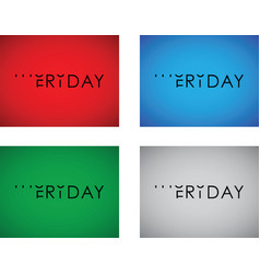 thursday to friday turning text set vector image