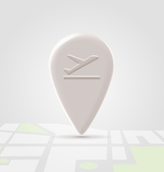 Airborn icon over map vector image